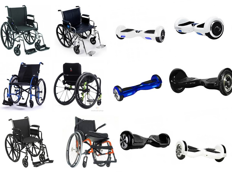 Hoverboard wheelchair attachment