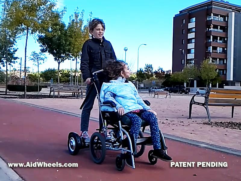 estimulacion niños paralisis cerebral hoverboard