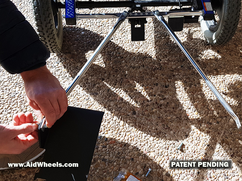 adaptar patinete electrico a silla de ruedas