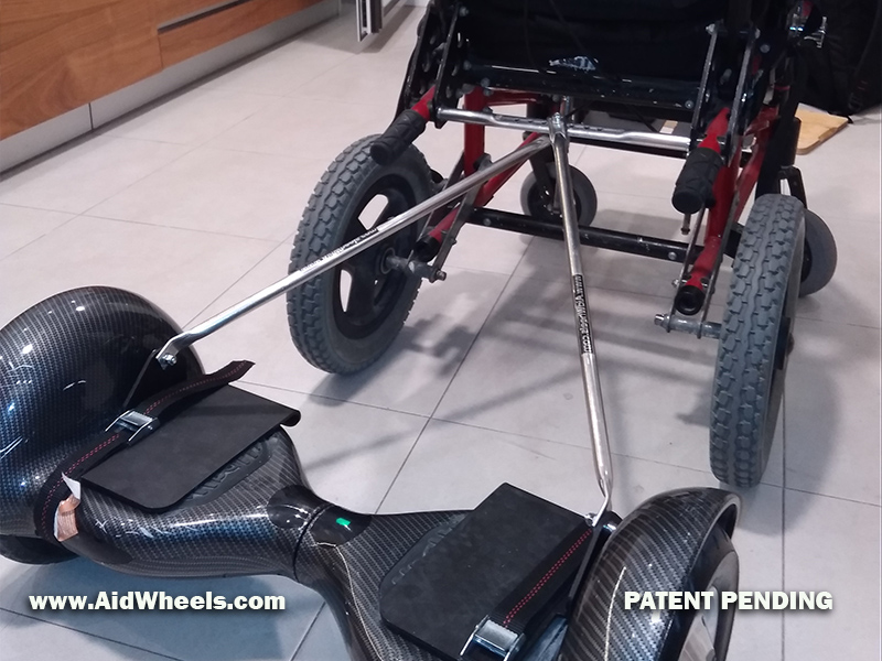 attach hoverboard wheelchair