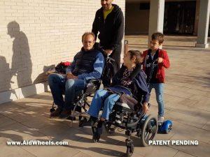 adaptar patinete silla ruedas