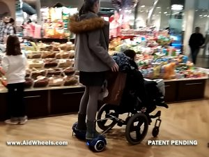 hoverboard wheelchairs attachment
