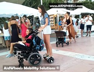hoverboard with a wheelchair invention