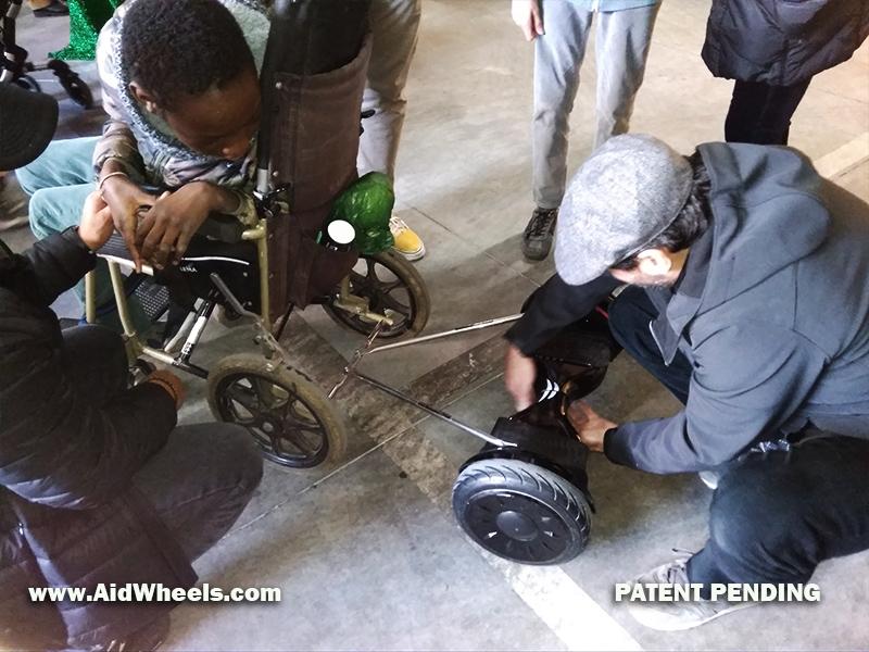 instalar hoverboard silla de ruedas