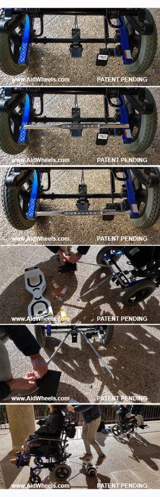 instalar hoverboard silla ruedas