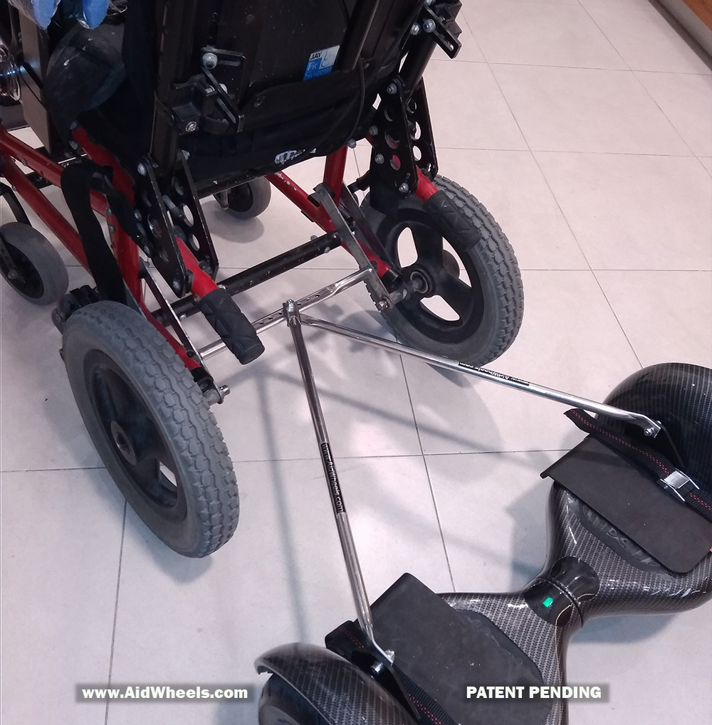 hoaverboard for wheelchair attachment adapter