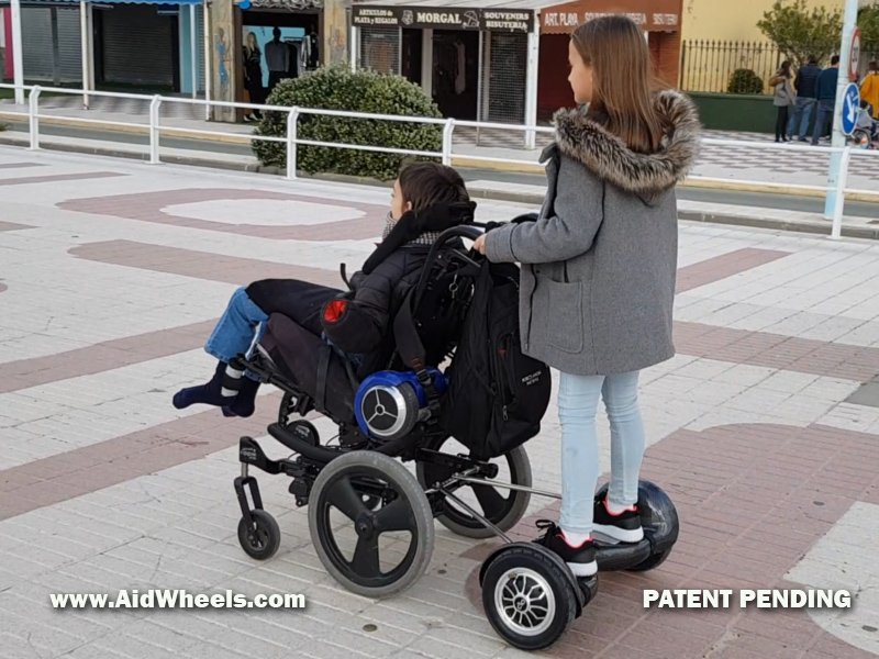 wheelchair adapter attachment for a hoverboard