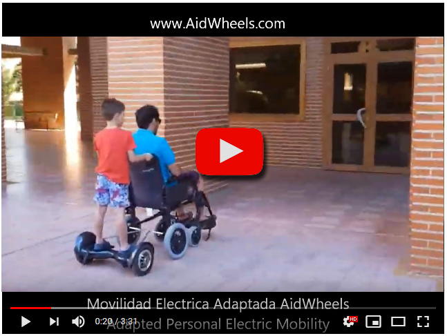 motor adaptable para silla de ruedas