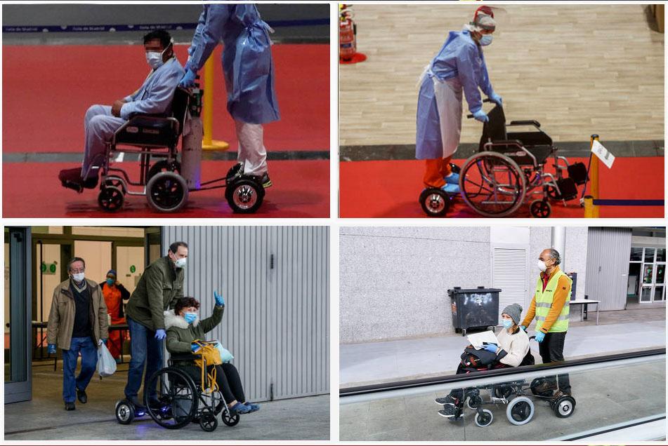 sillas de ruedas ifema pacientes patinetes