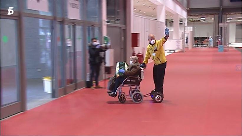 wheelchair ifema hospital madrid spain