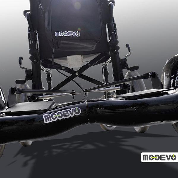 Mooevo Go Motor Empuje Paseo para Silla de ruedas Drive Medical BTR22BLK Bariatria