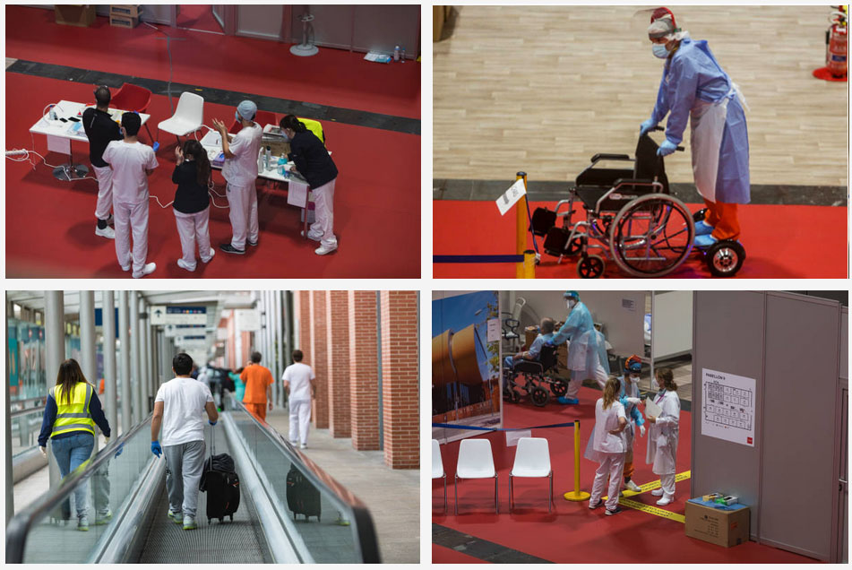 wheelchairs ifema hospital madrid